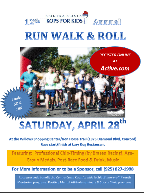 Contra Costa Kops for Kids Run Walk & Roll